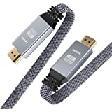 4K Short HDMI Cable 1.6ft/0.5m, Snowkids 4K@60Hz HDMI 2.0 High Speed 18Gbps Cable, Flat Braided HDMI Cord Support 4K HDR, 4K