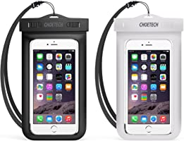 Waterproof Case, CHOETECH [2-Pack] Clear Transparent Pouch Can Touch Screen Dustproof Dry Bag With Neck Strap Compatible...