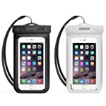 Waterproof Case, CHOETECH Clear Transparent Pouch Can Touch Screen Dustproof Dry Bag With Neck Strap Compatible with...