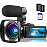 "4K Camcorder Video Camera Rosdeca Ultra HD 48.0MP WiFi Digital Camera IR Night Vision 3.0"" IPS Touch Screen 16X Digital Zoom"