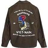 (ヒューストン)HOUSTON メンズ ベトジャン/ベトナムジャンパー/スーベニアジャケット OLIVE DRAB(カーキ)