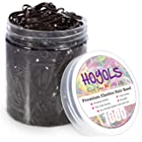 Hoyols Hair Rubber Bands Elastic Hair Ties Polyband Ties Small for Kids Baby Girl 1000 Piece Pack (Dark Brown)