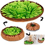 AWOOF Pet Snuffle Mat for Dogs, Interactive Feed Game for Boredom, Encourages Natural Foraging Skills for Cats Dogs Bowl Trav