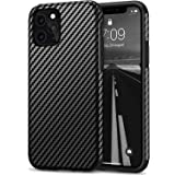 Tasikar Compatible with iPhone 11 Pro Max Case Carbon Fiber Leather Design with TPU Bumper Premium Hybrid Case (Black)