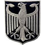 Germany Coat of Arms German Eagle Shield Metallic Embroidered Iron On Sew On Patch