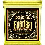 Ernie Ball P02556 Everlast Medium Light Coated 80/20 Bronze Acoustic Guitar String, 12-54 Gauge, Medium Light