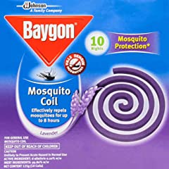 Baygon Mosquito Coil, Lavender, 10ct
