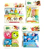 Torune Food Picks Bento Lunch - Sea Animal/Dog and Cat/Mini Container/Soy Sauce Case - 4 Kinds Set (Multi 4pc - A)