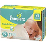 Pampers Swaddlers Newborn Diapers Size N 31 Count