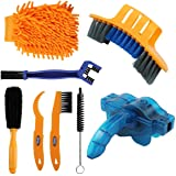 Anndason 8 Pieces Precision Bicycle Cleaning Brush Tool Including Bike Chain Scrubber, Suitable for Mountain, Road, City, Hyb