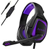 Stereo Gaming Headset for Xbox One PS4 PC - Surround Sound Over-Ear Headphones Anti-Noise Mic,Volume Control Laptop, Mac,Smar