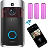 Video Doorbell Camera, 2.4Ghz Wi-Fi HD Wireless Security Camera Doorbell, Electric DoorBells, IP65, Night Vision, Motion Dete