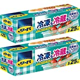 【Amazon.co.jp 限定】【まとめ買い】リード冷凍も冷蔵も新鮮保存バッグ S×2個