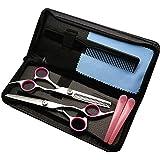 散髪 すきバサミ Pink&Blue2色選択可能 ヘアカット カットハサミ すきばさみ はさみセット 理髪 散髪 プロ…