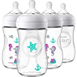 Philips SCF659/47 Avent Natural Baby Bottle with Seahorse design, 9oz, (pack of 4)