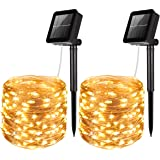 AMIR Solar Powered String Lights, 100 LED Copper Wire Lights, Waterproof Starry String Lights, Indoor/Outdoor Solar Decoratio
