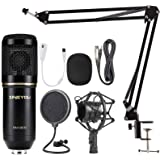 ZINGYOU Condenser Microphone Bundle, BM-800 Mic Set for Studio Recording & Brocasting (Microphone Kit (Black))