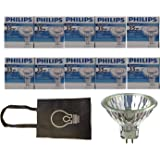 Philips Halogen Light Bulbs/Landscape Indoor or Outdoor Flood/Dimmable 35w Mr16 12v 2 Pin 36 Angle Gu5.3 Base - Pack of 10 Bu