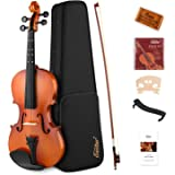 Eastar EVA-2 4/4 Violin Set Full Size Fiddle for Kids Beginners Students with Hard Case, Rosin, Shoulder Rest, Bow, and Extra