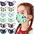 50 Pack Kids Disposable Colorful Dye Print Face_Masks with 3 Layer Face Filter Protective Shield for boy girl on School