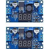 [2-pack] LM2596s Buck Converter DC to DC Step-down Voltage Regulator Power Module 36V 24V 12V to 5V 2A Voltage Stabilizer wit