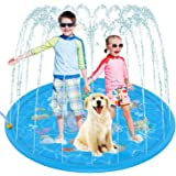 "Sprinkler Play Mat 172cm (68""), Splash Pad Sprinkler for Kids, Outdoor Sprinkler Mat Water Toys, Inflatable Splash Baby Toddl"