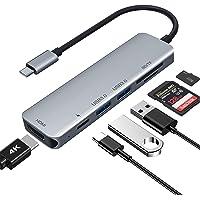 USB C ハブ 6-in-1 USB Type C ハブ ウルトラスリム USB C MacBook MacBook…