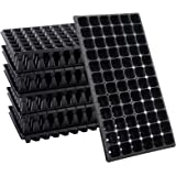 10 Pack Thickened 72 Cells Seedling Trays- BPA Free Plastic Gardening Germination Trays with Drain Holes Reusable Plant Grow