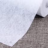 """Nonwoven Fusible Interfacing Single Side Lightweight Sewing Stabilizers,White,39.37""""x35Yard"""