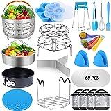 85 Pcs Pressure Cooker Accessories Set Compatible with Instant Pot 6 qt 8 Quart, 2 Steamer Basket, Springform Pan, Stackable