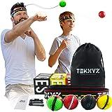 TEKXYZ Boxing Reflex Ball Family Pack | 2 Novice Reflex Balls + 1 Veteran Reflex Ball + 1 Boxer Reflex Ball + 2 Headbands and