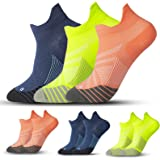 3 Pairs Compression Running Socks for Men & Women - T Tersely Low Cut No Show Athletic Socks for Stamina Circulation & Recove