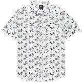 RVCA Men's Easy Palms Short Sleeve Woven Button Front Shirt