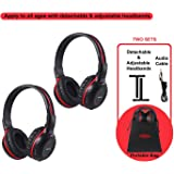 2 Pack of Wireless Car Headphones Wireless Headphones for Kids In Car Wireless Headphones with Travelling Bag for Universal R