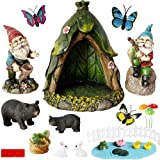BangBangDa OutdoorMiniature Gnome Garden Accessories - Fishing Gnome Figurines Statue Set for Fairy Garden Decor for Birthda