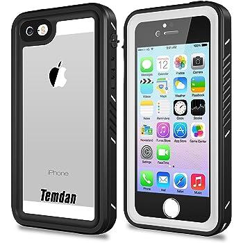 iPhone se 5s 5 防水ケース IP68防水規格 完全防水 防雪 防塵 耐震 耐衝撃 指紋認証対応 キックスタンド機能 水中撮影 アイフォンSE/5S/5 4インチ用(白い&黒い)