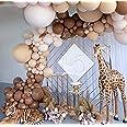 Oopat DIY Caramel Coffee Balloon Arch Garland for Kids Safari Baby Shower Bear Themed Birthday Tea Mother's Day Pumpkin's 1st
