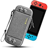 tomtoc Carry Case for Nintendo Switch, Ultra Slim Hard Shell with 10 Game Cartridges, Protective Carrying Case for Travel, wi