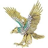 EVER FAITH Austrian Crystal Vintage Style Big Flying Eagle Animal Brooch