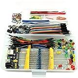 HJ Garden Electronic Component Assorted Kit for Arduino, Raspberry Pi, STM32 etc. 830 Breadboard + Jumper + Power Module + Re