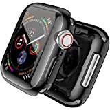 T Tersely[2 Pack] Case Overall Protector for Apple Watch Series 6/SE/5/4 44mm, Full Coverage Protection Bumper All-Around Sur