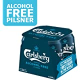 CARLSBERG Alcohol-Free Pilsner Beer Can, 330 ml (Pack of 4)