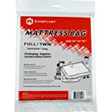"""Kingplast Twin/Full Mattress Bag for Moving, 54"""" x 87"""" Disposable Plastic Mattress Storage Bag Cover for Waterproof, Bedbugs,"""