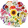 Flower Laptop Stickers for Kids Cute Stickers for Laptop Flower Vinyl Stickers Waterproof Stickers 50Pcs