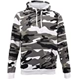 Zmart New Adult Men's Fleece Pullover Hoodie Hooded Jacket Military Camouflage Sweater