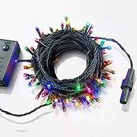 イルミネーション ライト LED 100球 ストレートタイプ 10m メモリー 機能 内蔵 コントローラー 付 カラー…
