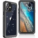 iPhone 12 防水ケース Oterkin iPhone 12 ケース IP68防水 全面カバー 耐衝撃 米軍mil規格 超薄型 透明 クリア 無線充電対応 防塵防雪 傷防止 滑らか操作 ストラップ付き 雨の日、お風呂など適用 iPhone 12