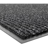 (0.9m Width x 1.5m Length, Charcoal) - NoTrax 109 Brush Step Entrance Mat, for Lobbies and Indoor Entranceways, 0.9m Width x