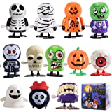 Max Fun 12pcs Halloween Wind Up Toy Assortment for Halloween Party Favors Goody Bag Filler (Halloween Wind up Toys)