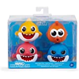 WowWee Pinkfong Baby Shark Bath Squirt Toys, 4 Pieces